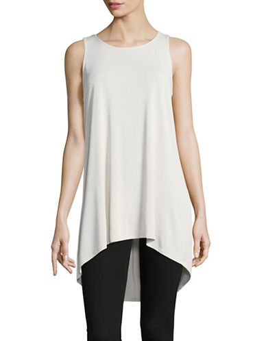 Vince Camuto Hi-Lo Stretch Tunic-GREY-Medium
