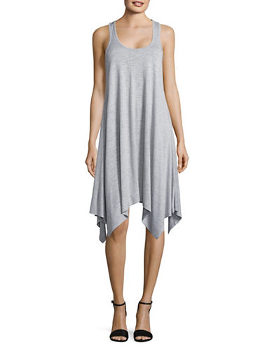 Two By Vince Camuto Jersey Handkerchief Hem Dress-GREY-Large