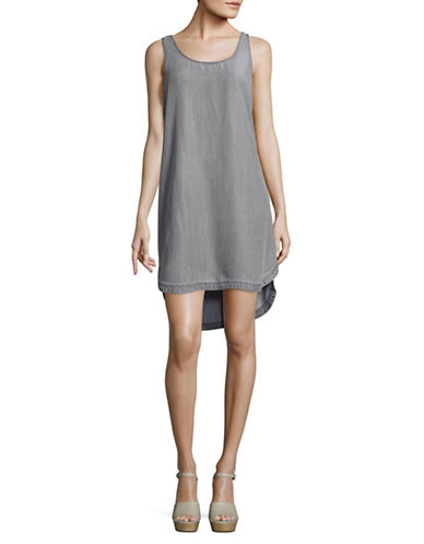 Two By Vince Camuto Chambray Tank Dress-GREY-Large