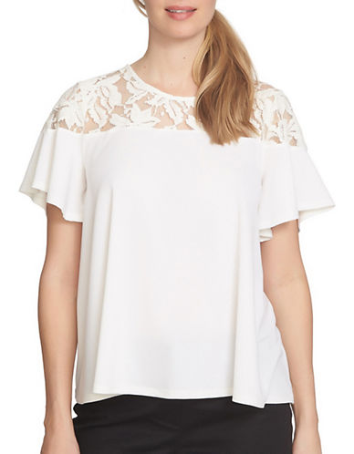 Cece Floral Lace Yoke T-Shirt-NATURAL-Small