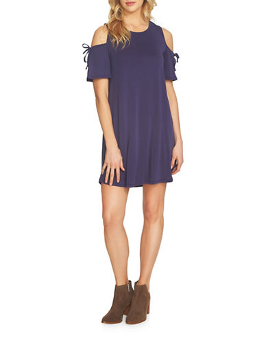 1 State Cold Shoulder Dress-BLUE-Medium