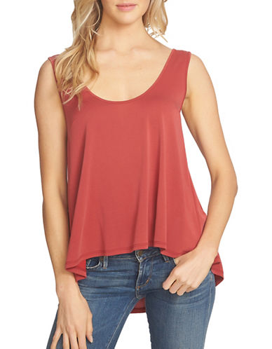 1 State Scoop Neck Drawstring Back Tank-RED-Large