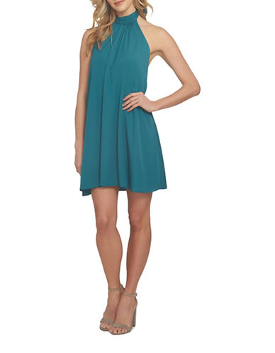 Cynthia Steffe Monte Halter Neck Dress-GREEN-4