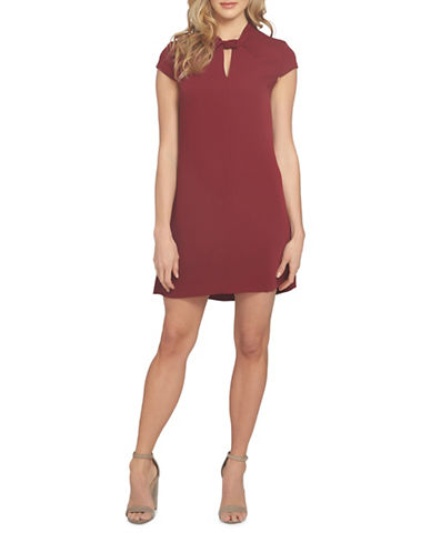 Cynthia Steffe Twist Neck Shift Dress-RUBY-8