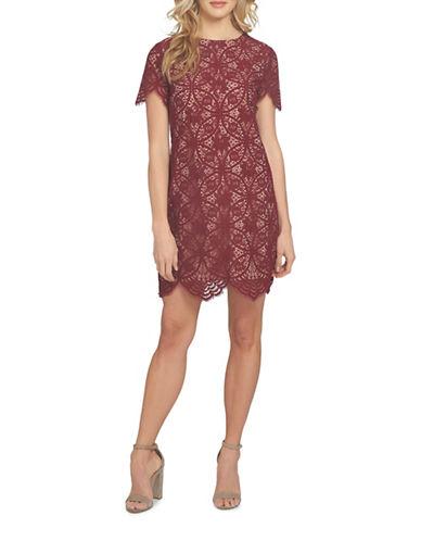 Cynthia Steffe Mandala Lace Shift Dress-RUBY-10