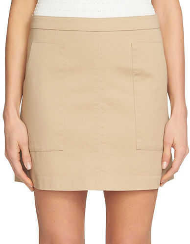 1 State Patch Pocket A-Line Skirt-BROWN-8