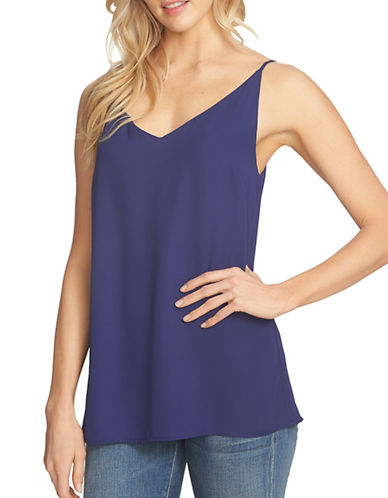1 State Spaghetti Strap Lattice Back Tank-BLUE-Small 89235444_BLUE_Small
