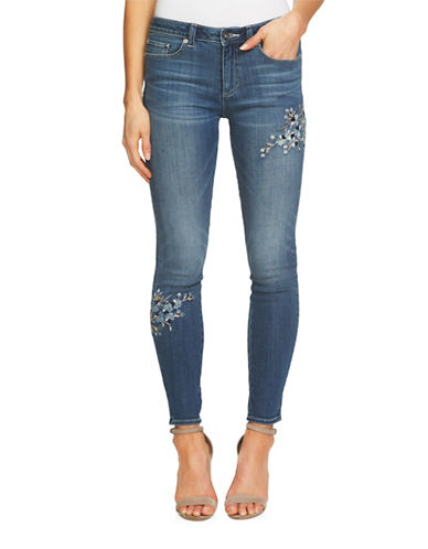 Cece Denim Skinny Jeans-BLUE-28