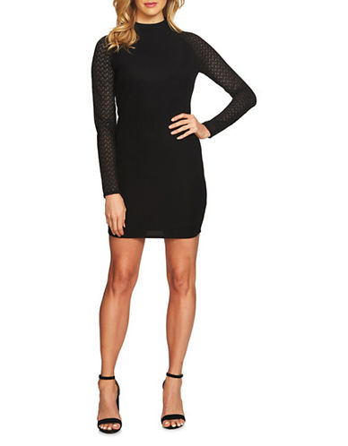 Cynthia Steffe Juliana Lace Combo Dress-BLACK-12