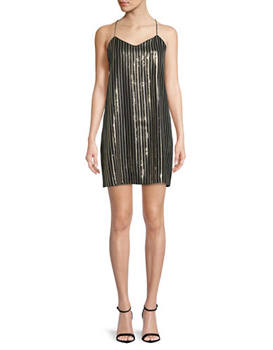Cynthia Steffe Mia Sequin Slip Dress-BLACK MULTI-10