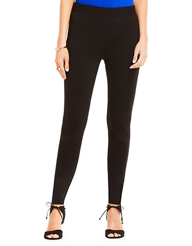 Vince Camuto Ponte Performance Leggings-RICH BLACK-Large