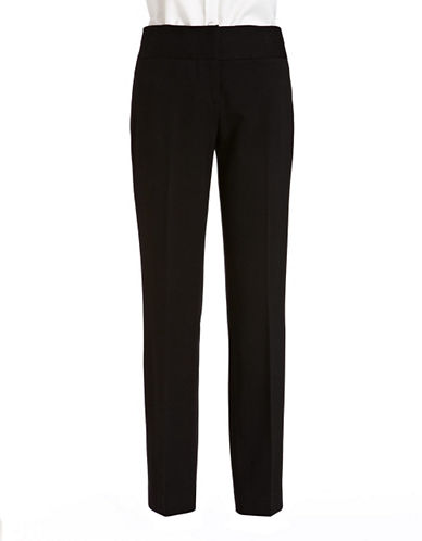 Vince Camuto Stretch Ankle Pants-BLACK-2