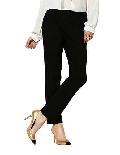 Vince Camuto Skinny Ankle Pants-RICH BLACK-2