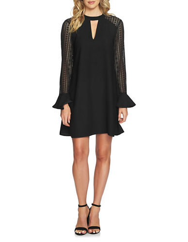 Cynthia Steffe Rachel Bar Neck Shift Dress-BLACK-2