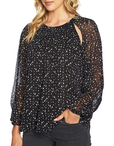 1 State Stars Long Sleeve Blouse-BLACK MULTI-Medium