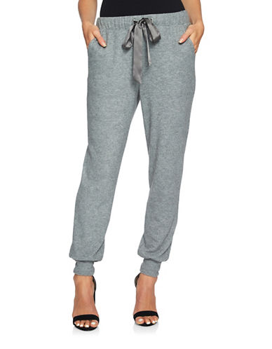 1 State Brushed Jersey Jogging Pants-GREY-Small 89583777_GREY_Small