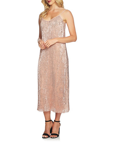 1 State Sequin Midi Dress-PINK-Medium