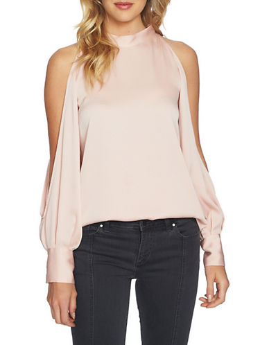 1 State Cold Shoulder Blouse-PINK-Small