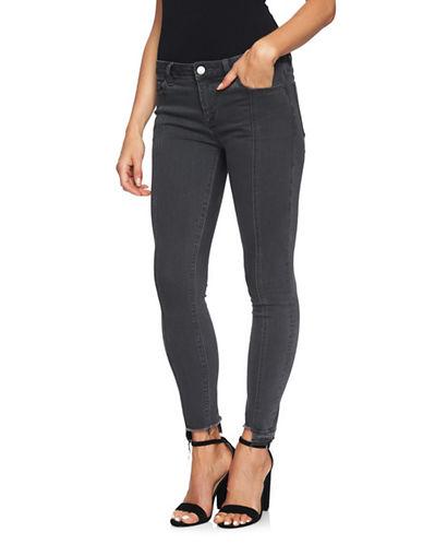 1 State Step-Hem Skinny Jeans-GREY-31
