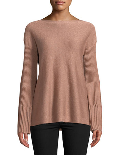 Vince Camuto Bell Sleeve Ribbed Sweater-PINK-Large
