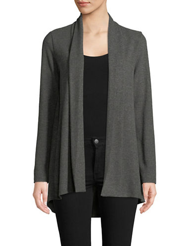 Vince Camuto Long-Sleeve Open Front Cardigan-GREY-Small
