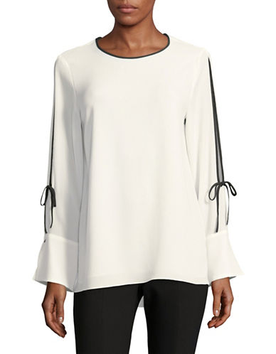 Vince Camuto Split Bell-Sleeve Top-WHITE-Medium