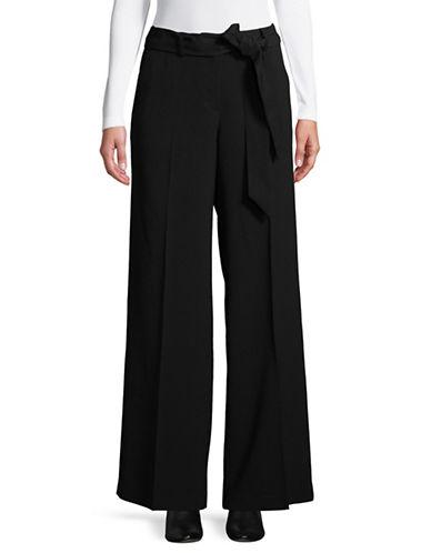Vince Camuto Tie Front Wide-Leg Pants-BLACK-4