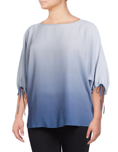 Vince Camuto Plus Ombre Long-Sleeve Blouse-BLUE-1X