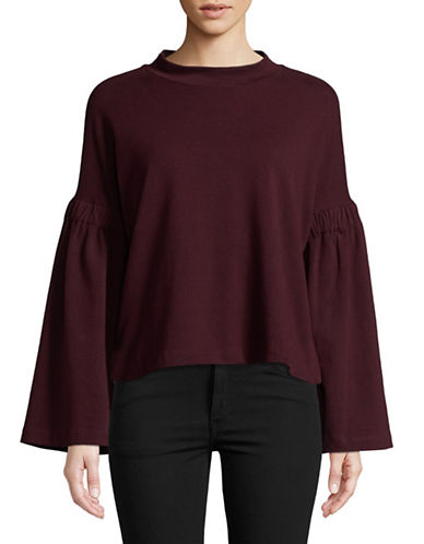 Two By Vince Camuto Bell Sleeve Top-RED-Large