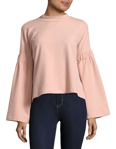 Two By Vince Camuto Bell Sleeve Top-BLUSH-X-Large