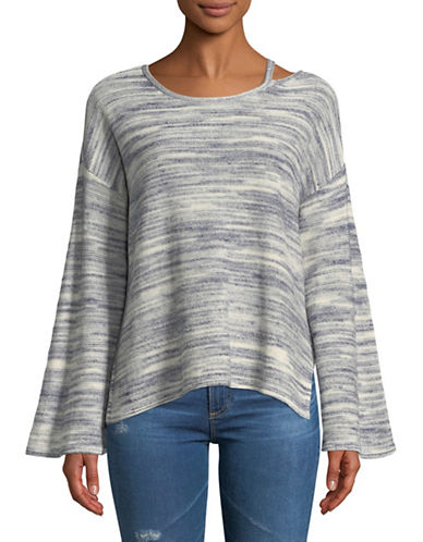 Two By Vince Camuto Novelty Space Dye Sweater-GREY-Large
