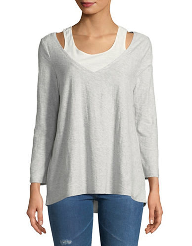 Two By Vince Camuto Tank Underlay Cotton Top-GREY-X-Small 89794713_GREY_X-Small
