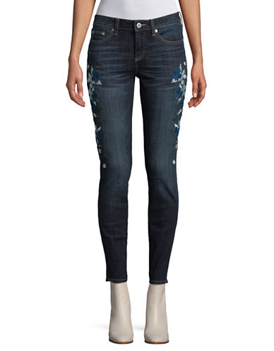 Cece Floral Embroidered Jeans-BLUE-26