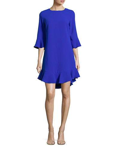 Cece Bell-Sleeve Ruffle Shift Dress-BLUE-2
