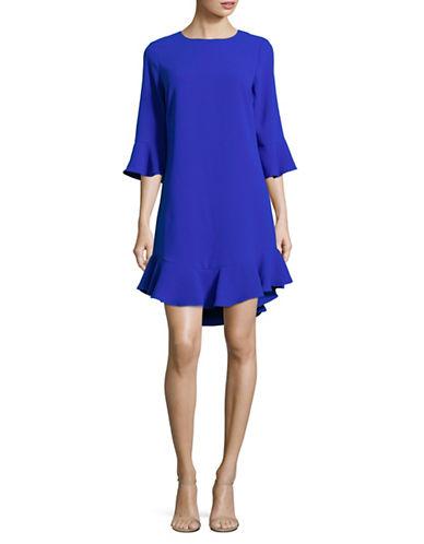 Cece Bell-Sleeve Ruffle Shift Dress-BLUE-8