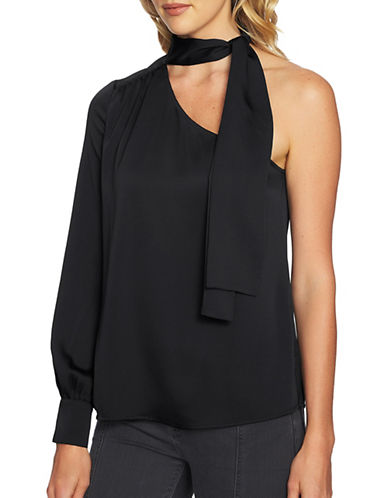 1 State One-Shoulder Blouse-BLACK-Large