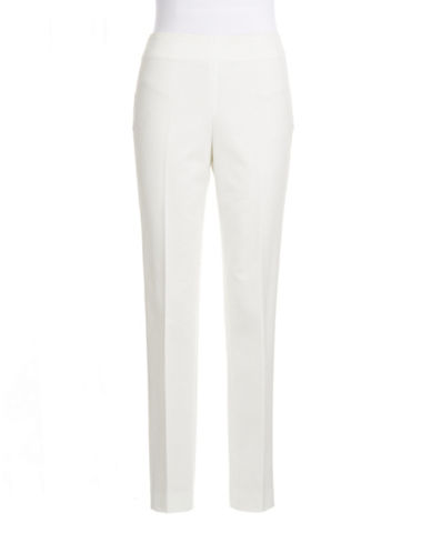 Vince Camuto Side Zip Ankle Trousers-IVORY-2