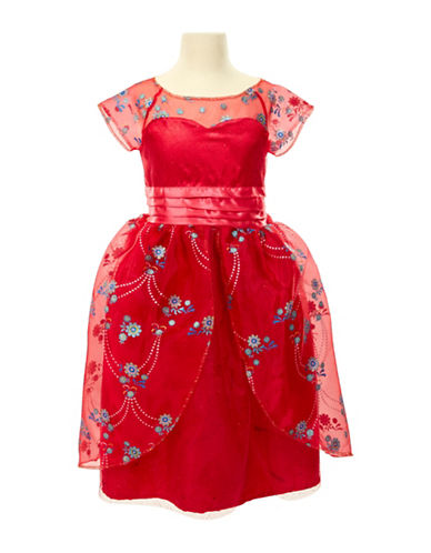 Disney Elena Deluxe Royal Ball Gown-RED-One Size