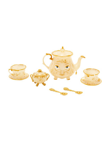Disney Beauty and the Beast Enchanted Objects 10-Piece Tea Set-MULTI-One Size