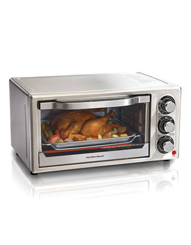 Hamilton Beach Stainless Steel 6 Slice Toaster Oven-STAINLESS STEEL-One Size