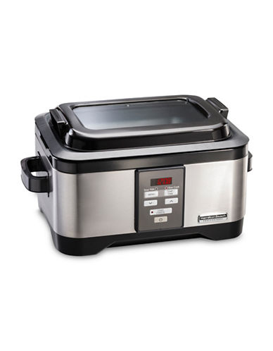 Hamilton Beach Slow Cooker with Sous-Vide Cooking Option-SILVER-One Size