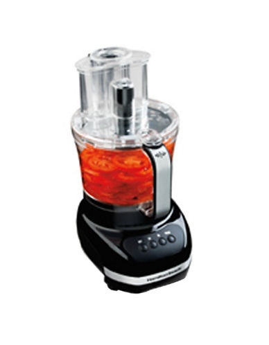 Hamilton Beach Big Mouth 12 Cup Duo Plus Food Processor-BLACK-One Size 84936591_BLACK_One Size