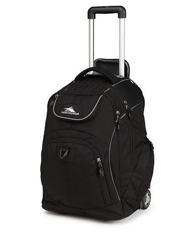 High Sierra Powerglide Wheeled Backpack-BLACK-One Size