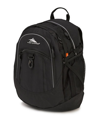 High Sierra Fatboy Waffle Woven Backpack-BLACK-One Size