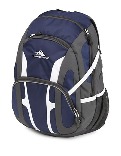 High Sierra Composite Mini-Waffle Weave Ripstop Backpack-NAVY-One Size