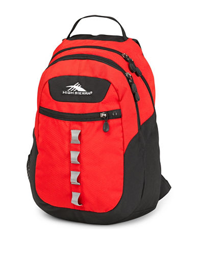 High Sierra Opie Mini-Hexagon Ripstop Waffle Weave Backpack-RED-One Size