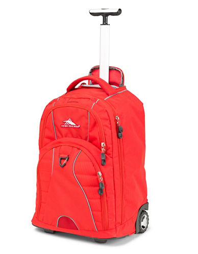 High Sierra Freewheel Wheeled Backpack-RED-One Size