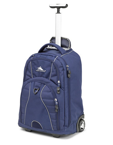 High Sierra Freewheel Wheeled Backpack-NAVY-One Size