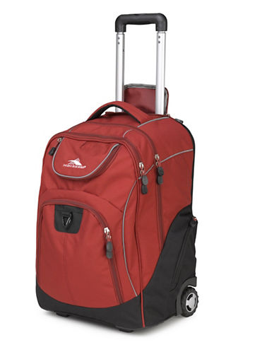 High Sierra Powerglide Wheeled Backpack-RED-One Size