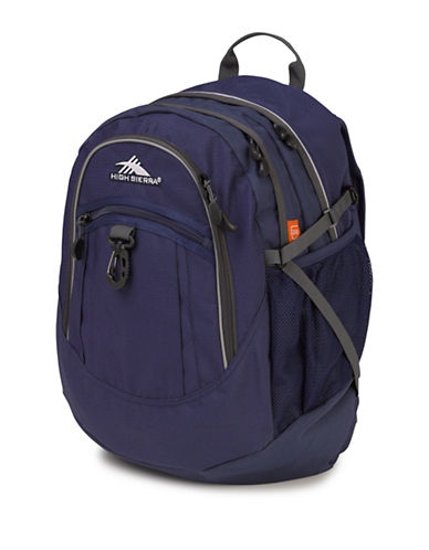 High Sierra Textured Fatboy Backpack-BLUE-One Size